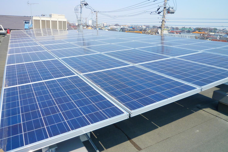 太陽光発電 110KWシステム(園舎屋上東)