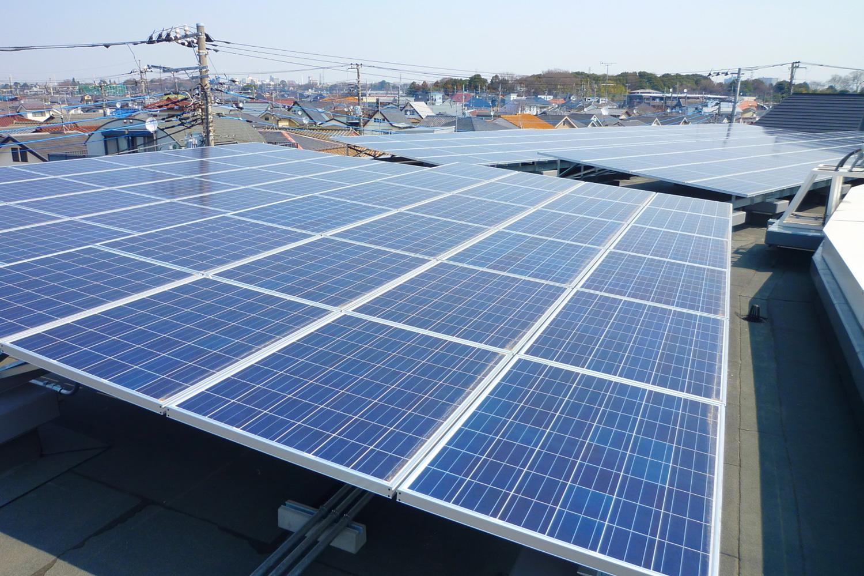 太陽光発電 110KWシステム(園舎屋上西)